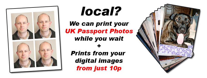 Sussex Local Photography Shop for UK Passport Photos